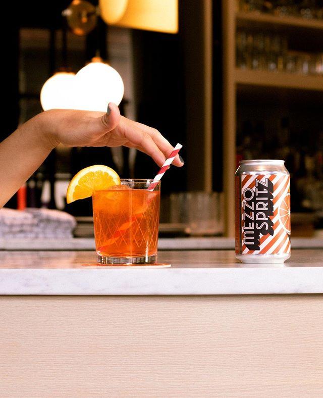 Mezzo Spritz over ice. Mighty nice! One of the three ways to enjoy Mezzo Spritz. #spritzzatura