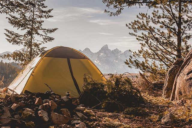 This is what I would call my best view upon rising from bed in a chilly, spring  camping morning. At many times, life can be hard or gloriously smooth - either way, seeing these mountains at sunrise can bring a smile to your face, no matter what.