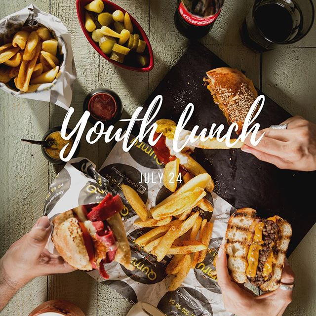 Don't forget, we DO NOT have youth lunch tomorrow, instead meet us next week, July 24th, for some food and fun. Don't forget to bring some money! #Haygood #YouthLunch
