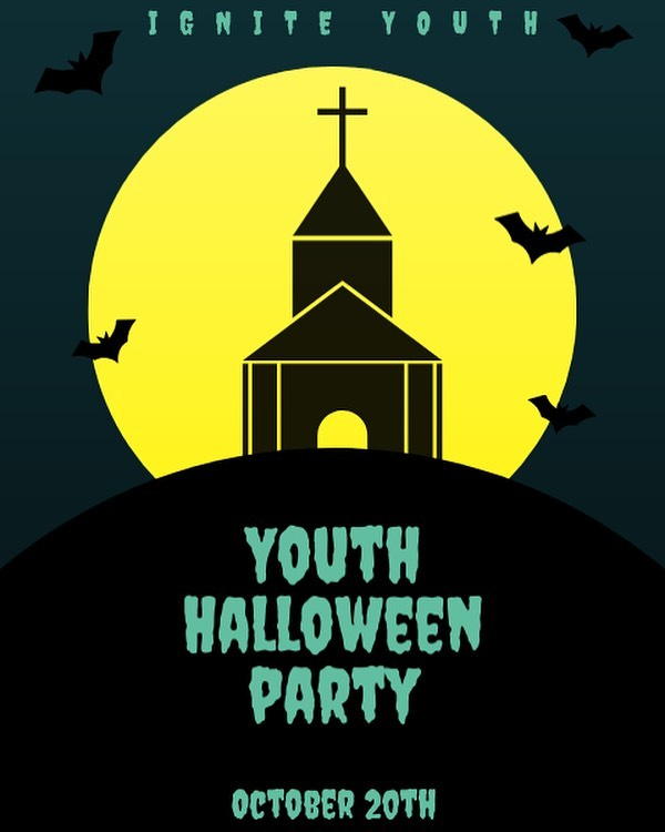 The youth Halloween party is coming up on October 20th! Make sure to come in your costume ! 🎃👻🍫🍬