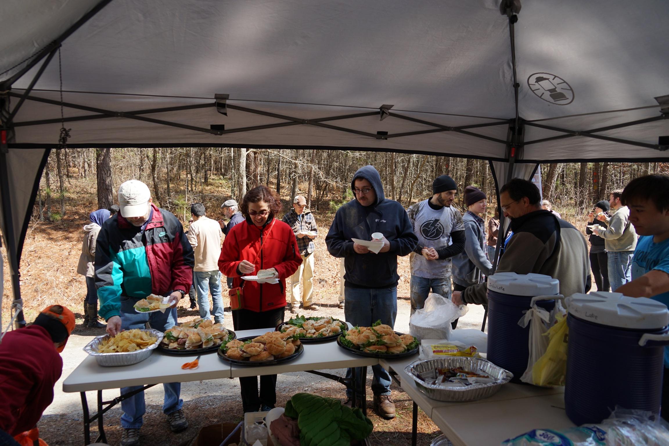 Volunteers luncheon after event