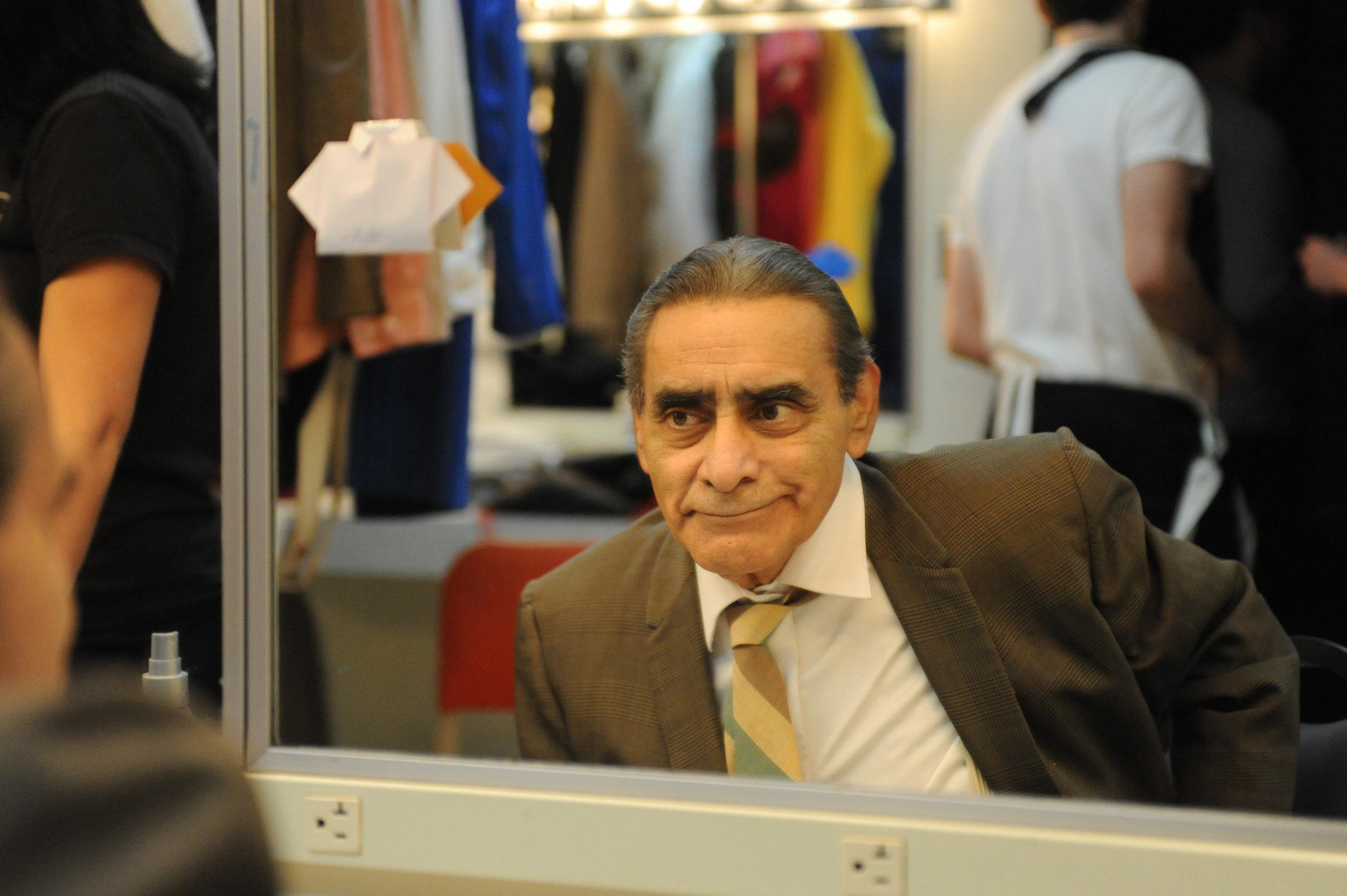 BEHIND THE SCENES! - Actor Antonio Juarez getting into hair and makeup