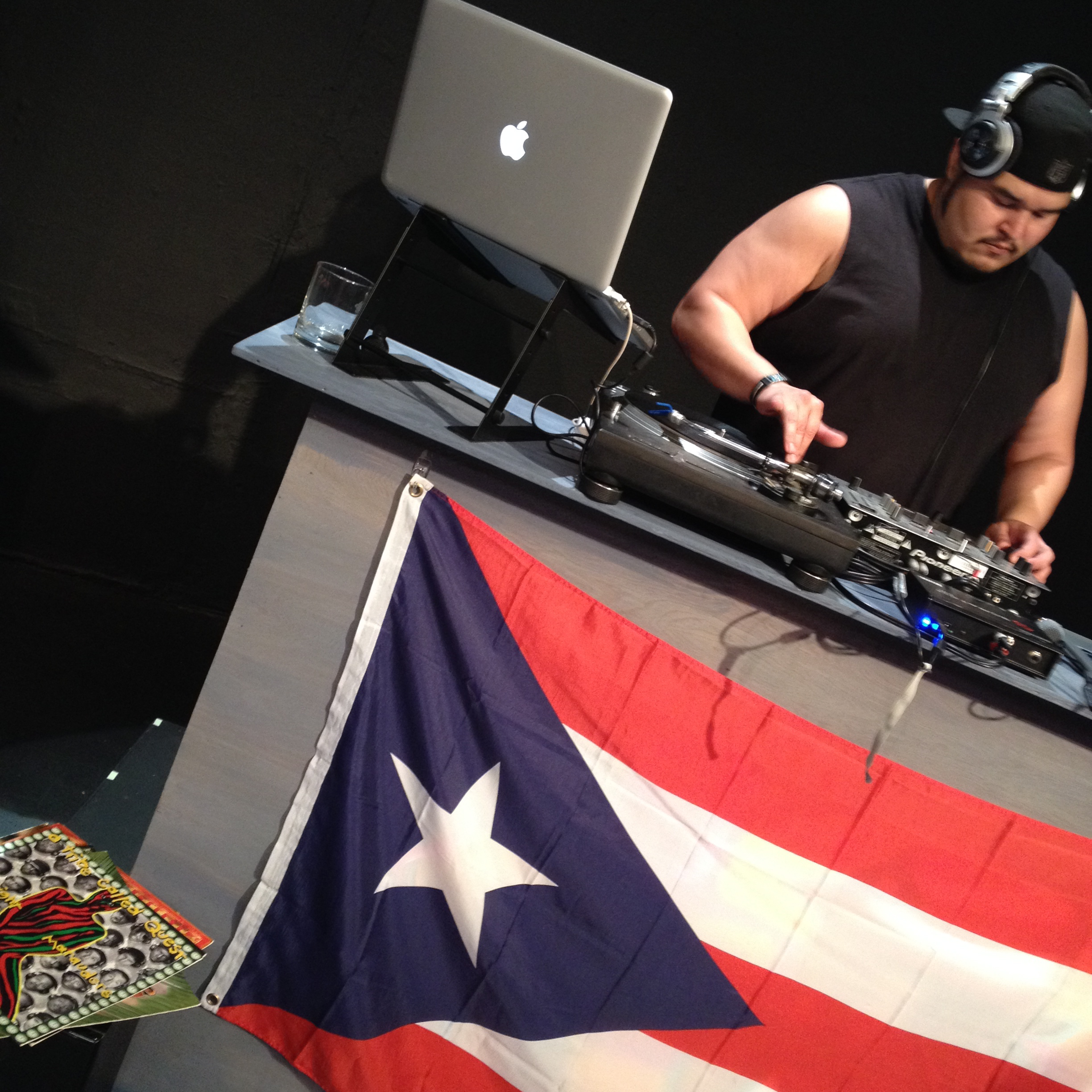 BEHIND THE SCENES! - Actor Isacc Torres sound checks live DJ equipment pre-show, and practices for a scene