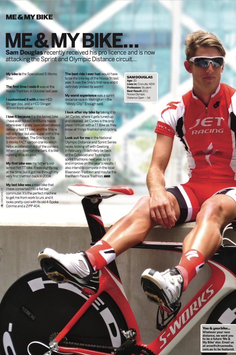 220 Triathlon Magazine feature