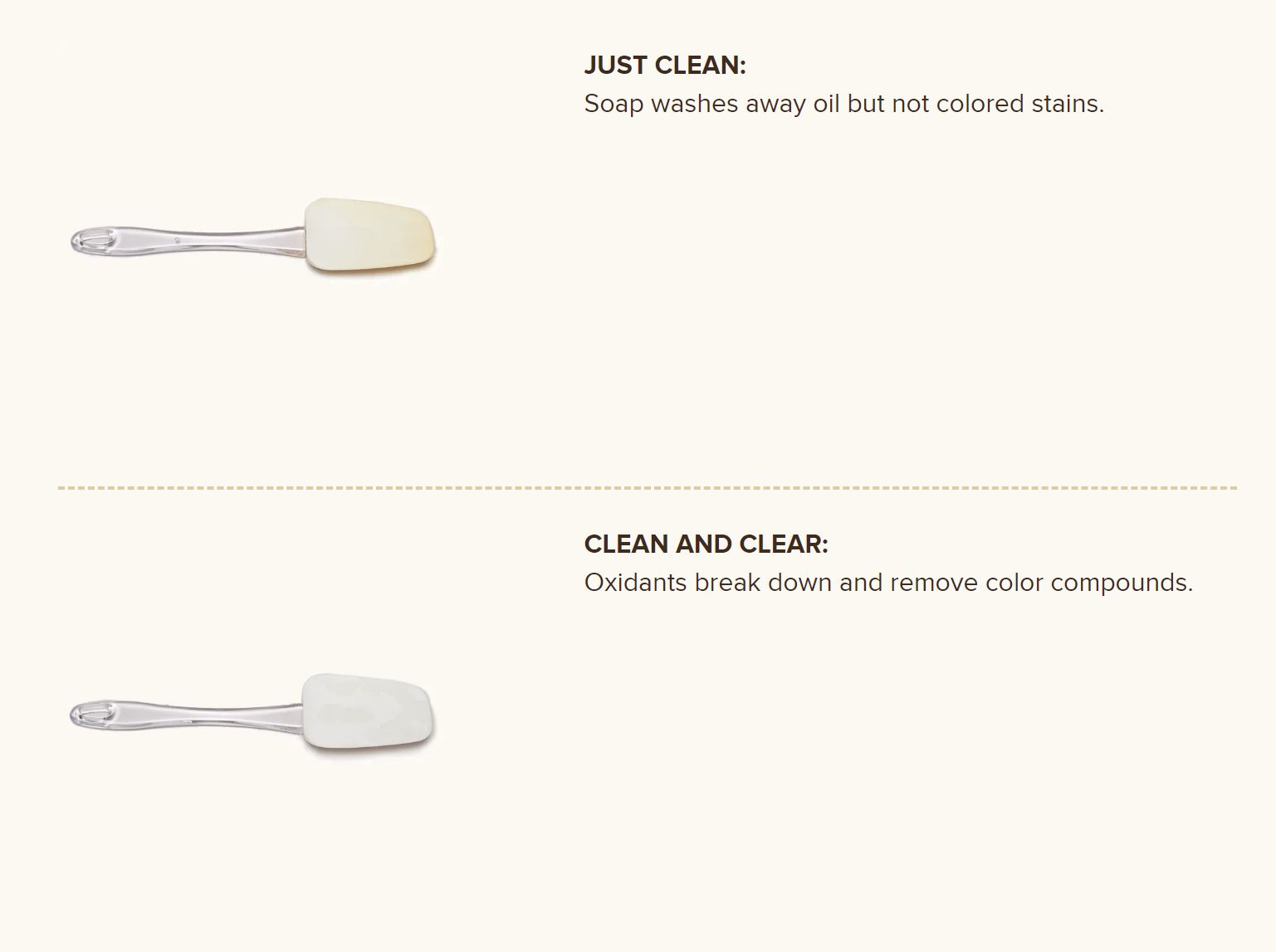 credit:  https://www.cooksillustrated.com/how_tos/8614-removing-stains-from-silicone-spatulas?fbclid=IwAR1N5qq5RQ-aBIO5ewjsn_X-iBX-HBsuGhcyB7Unv_WwrbDhWP8iQh67ivY