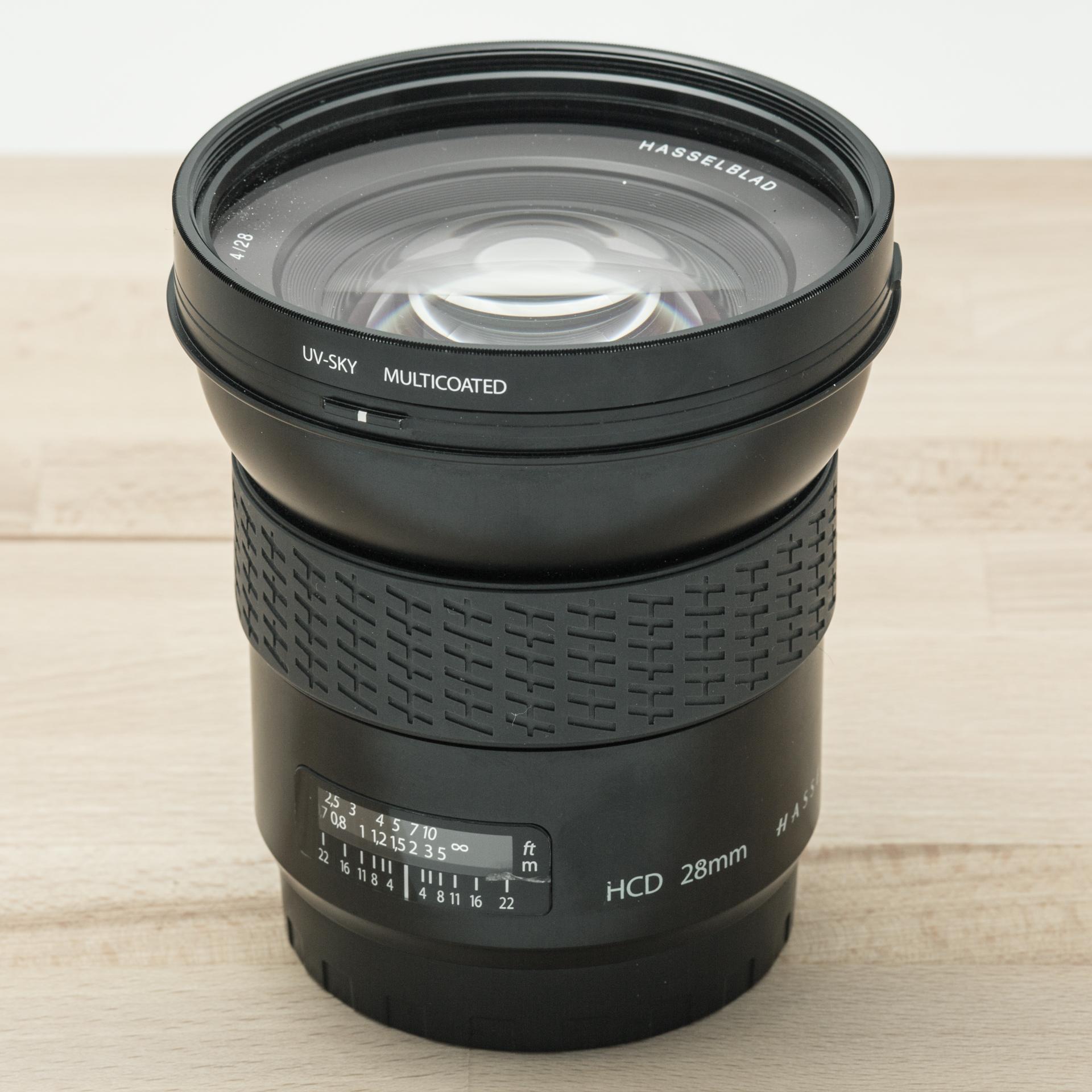 Hasselblad HCD 28mm f/4 + Lens Shade + UV-Sky 95mm // 7.809 exposures