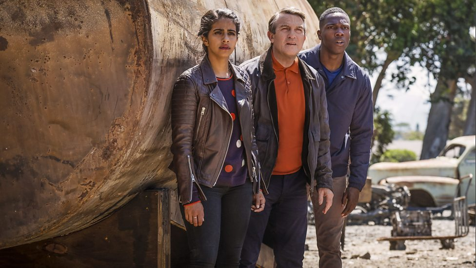 (L-R) Yaz, Graham and Ryan in the episode 'Rosa'. Photo Credit: BBC