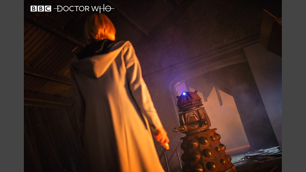 The 13th Doctor comes face-to-face with her first Dalek in the episode 'Resolution'. Photo Credit: BBC