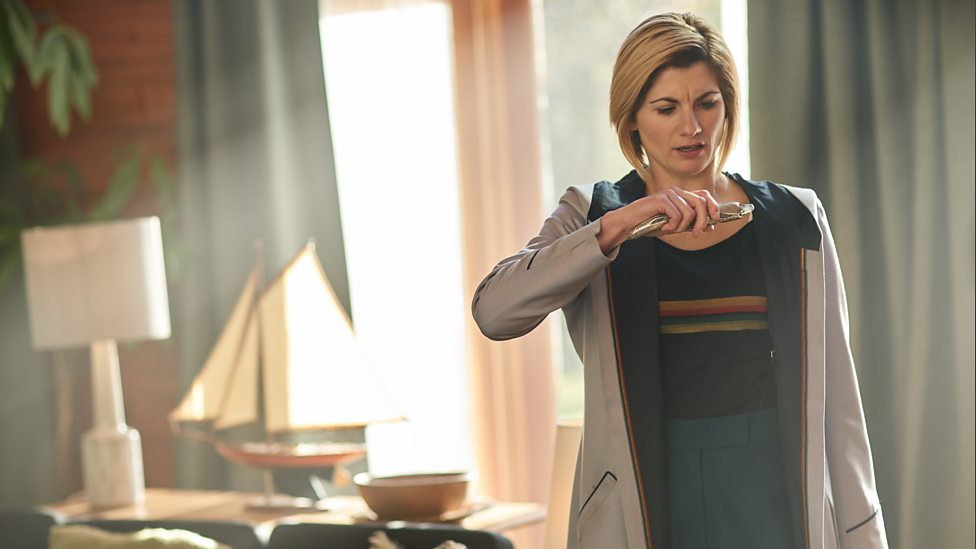 The 13th Doctor and her Sonic Screwdriver, in the episode 'It Takes You Away'. Photo Credit: BBC