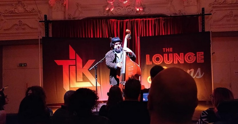 Grant Sharkey onstage at Bush Hall. Image via  Grant Sharkey