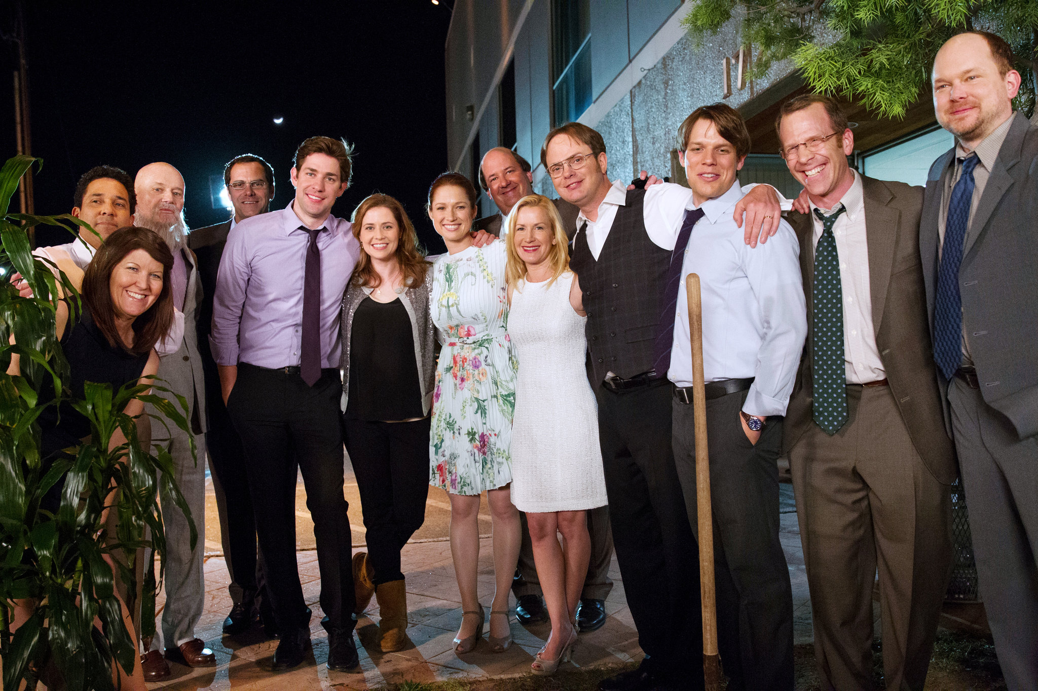 Most of the cast of The Office's Finale episode. Image via  NYTimes