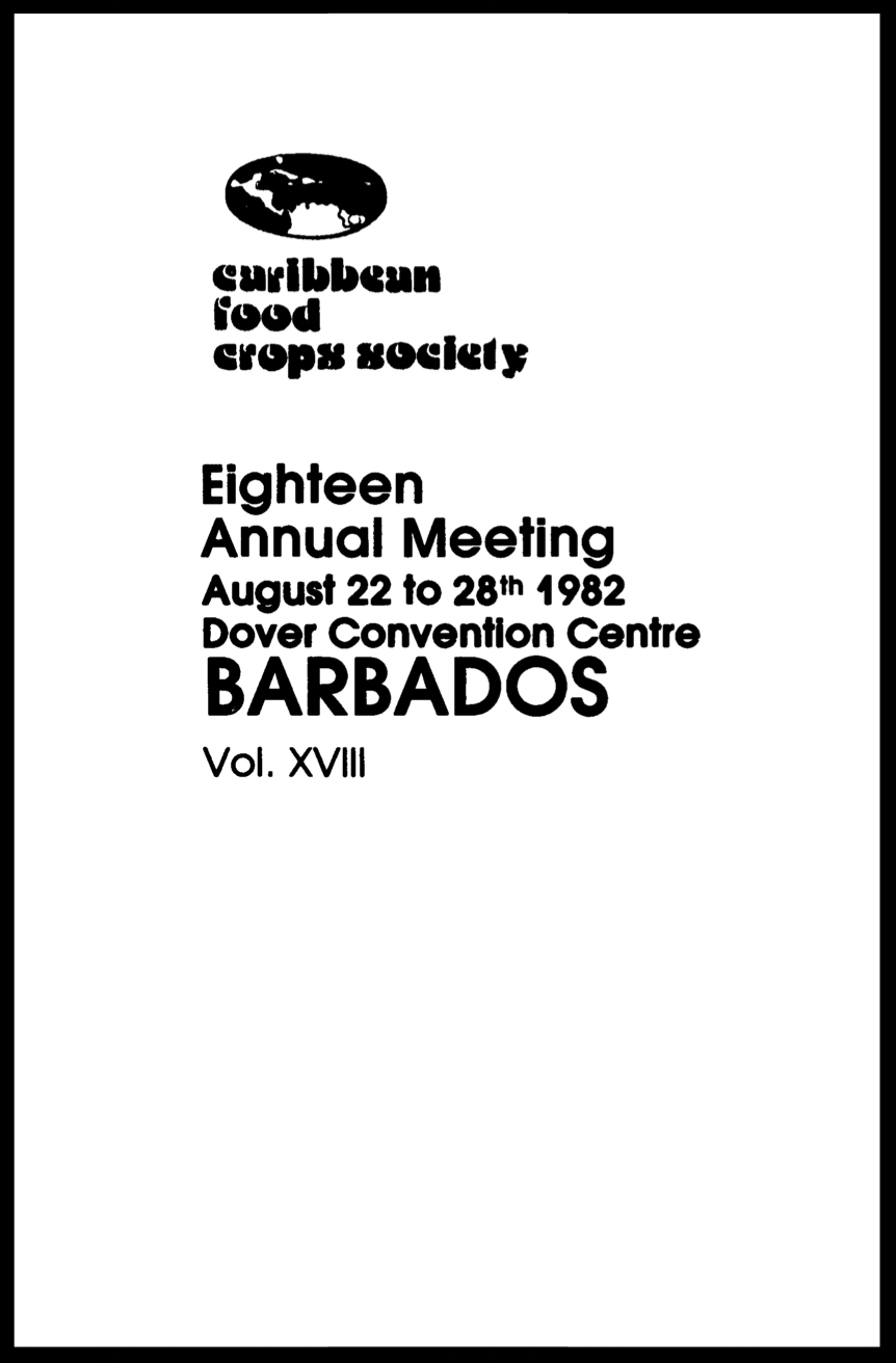 1982, Vol. 18, Bridgetown, BB