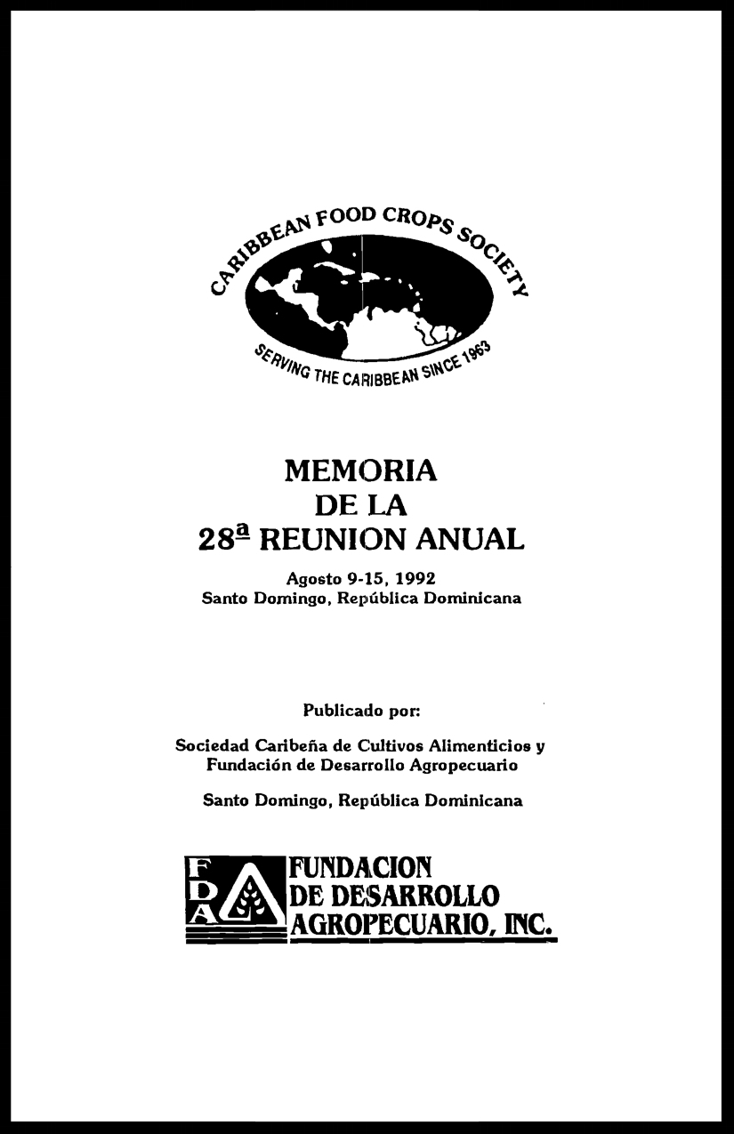 1992, Vol. 28, Santo Domingo, RD