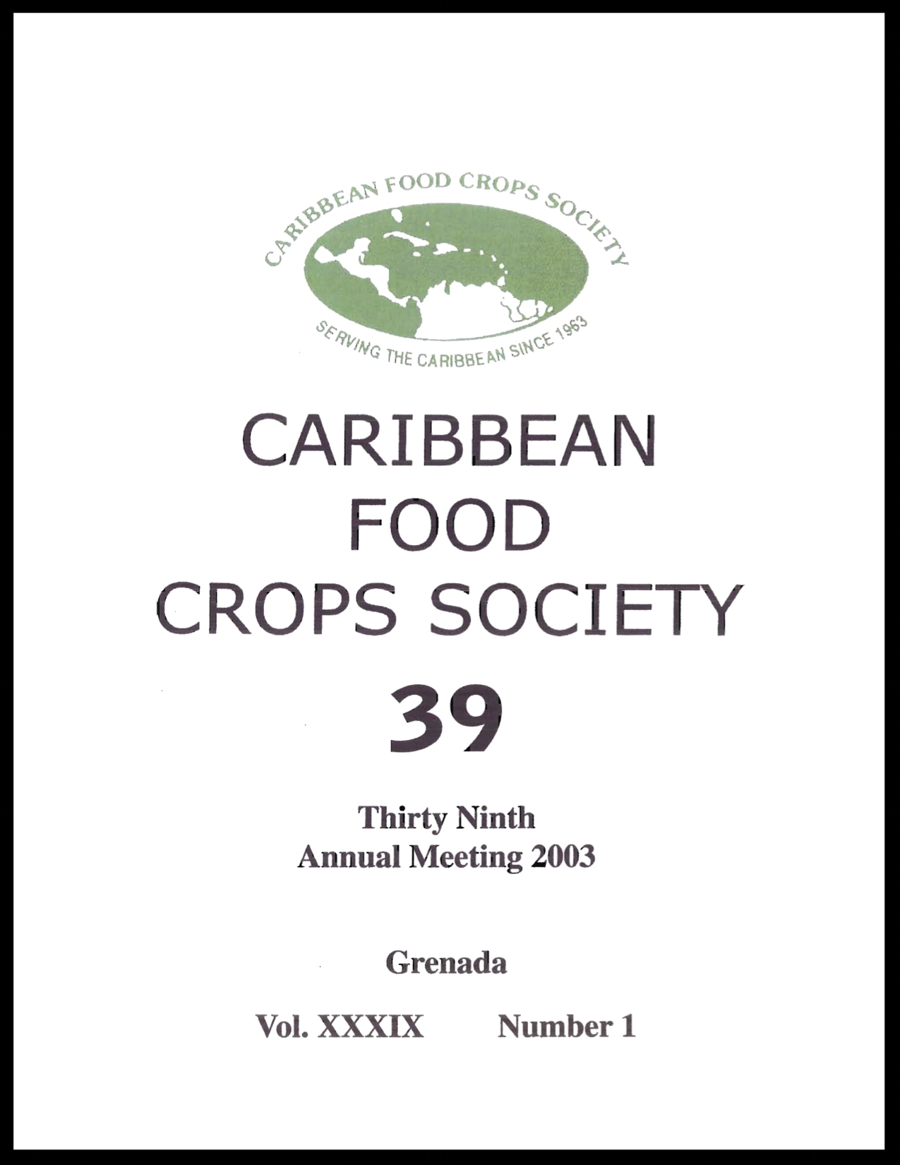 2003, Vol. 39, Grand Anse, GD