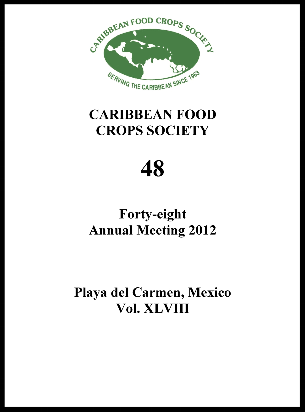 2012, Vol. 48, Playa del Carmen, MX