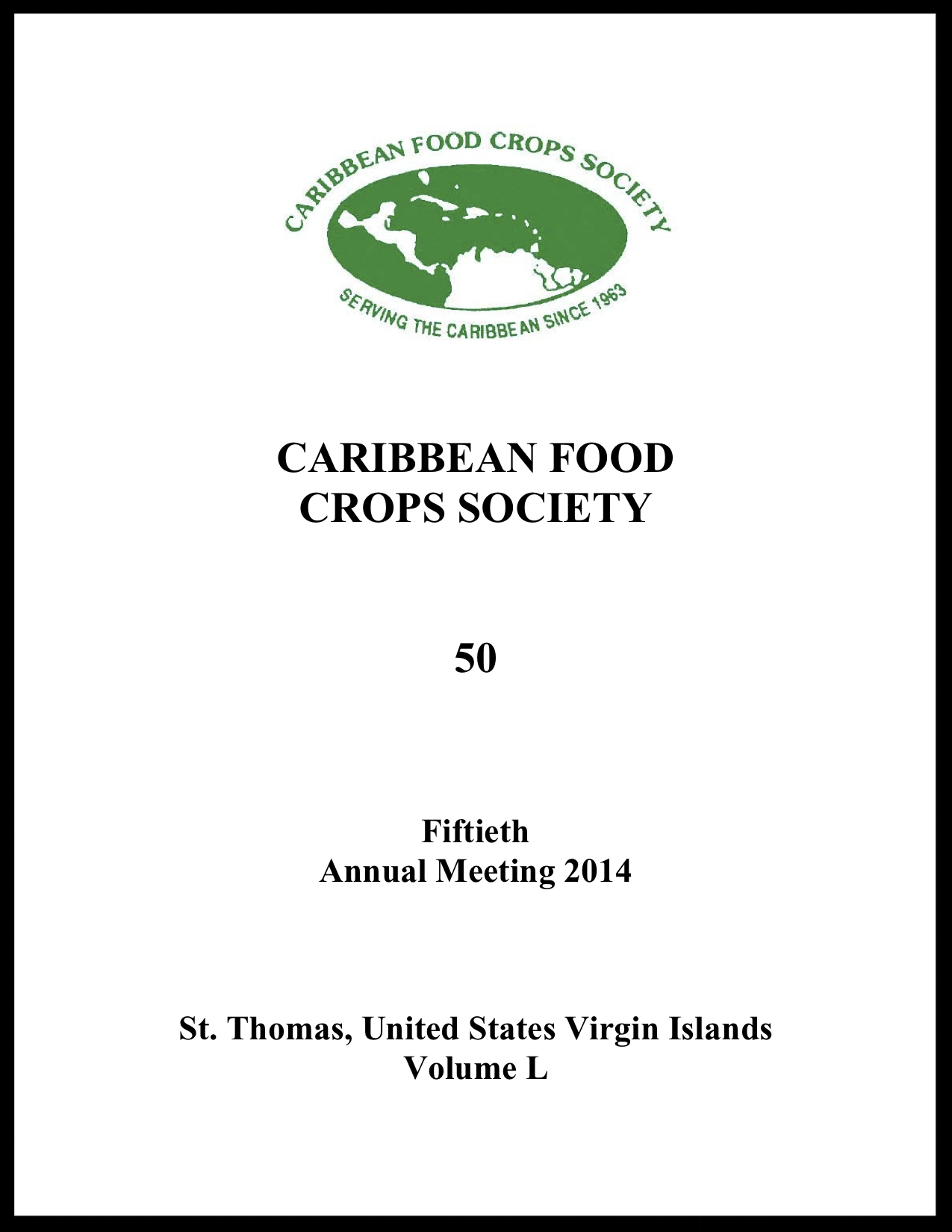 2014, Vol. 50, St. Thomas, USVI