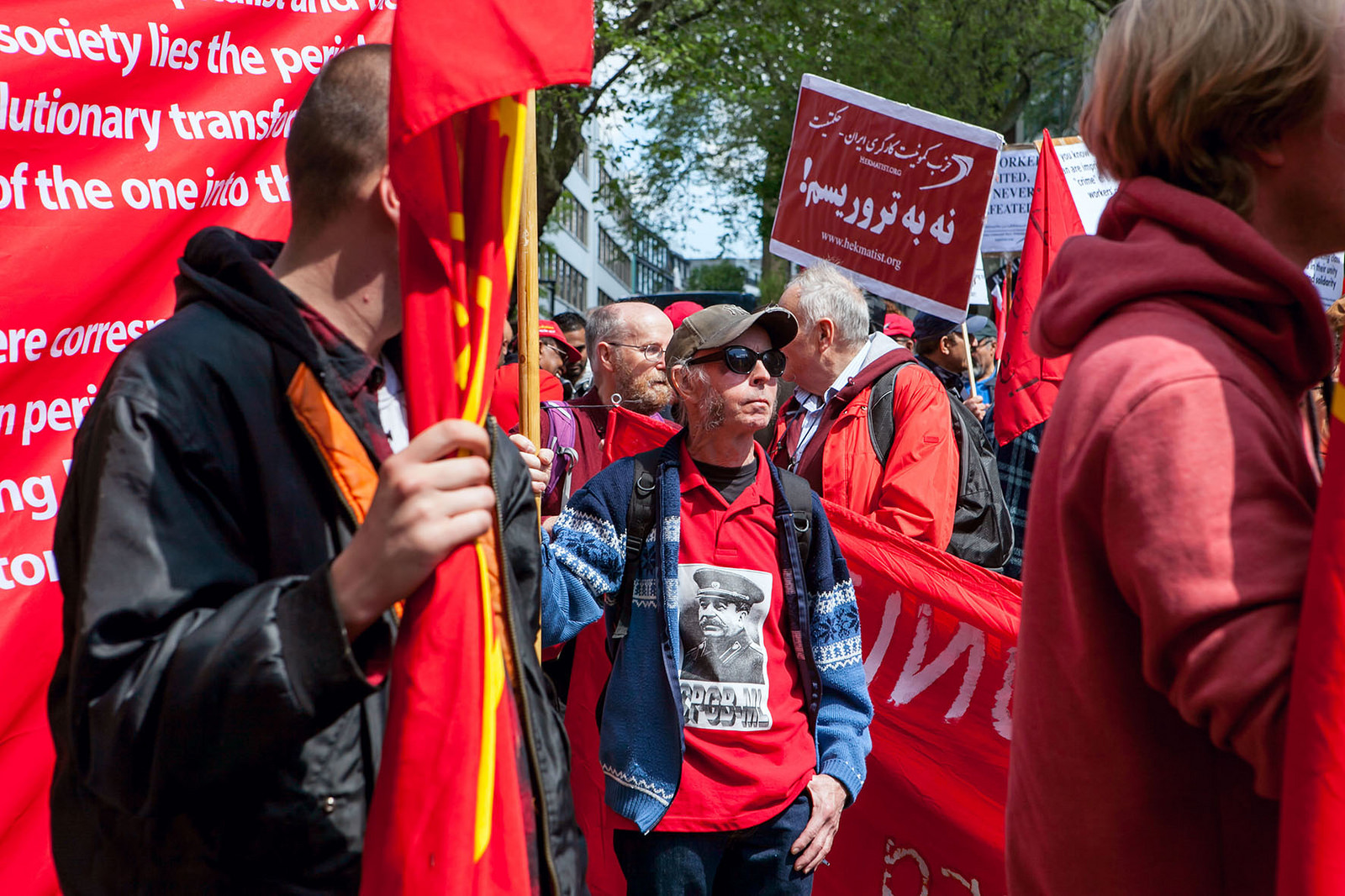 The CPGB-ML marching during the 2018 May Day parade