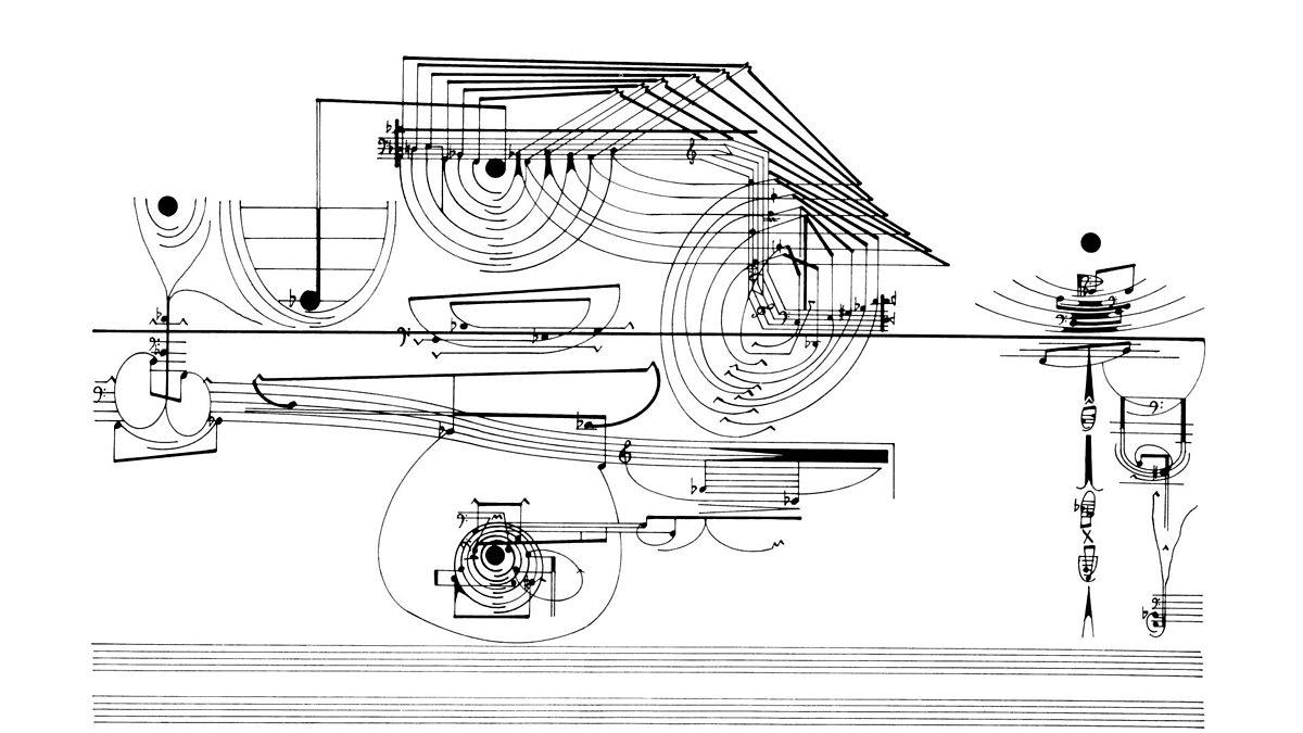 One of Cornelius Cardew's graphic scores for 'Treatise'