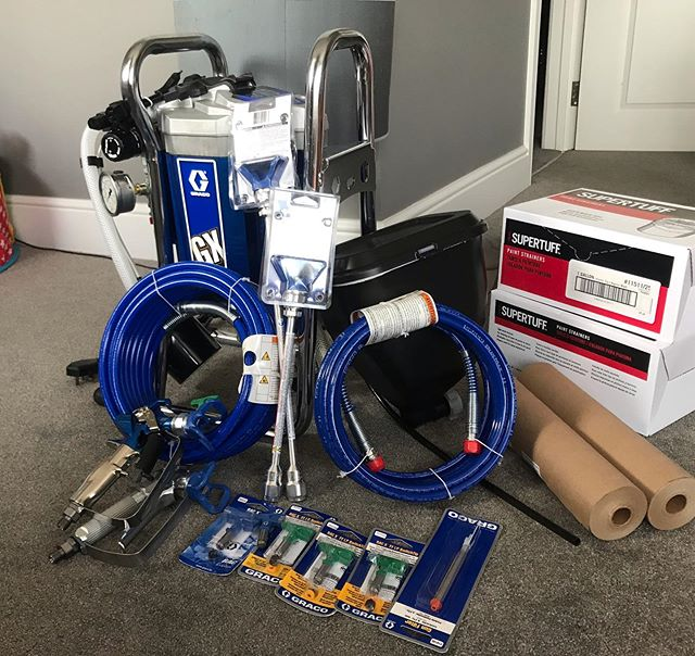 Thanks @sprayman_uk for all my stuff ! #gracospraygun #graco #paintlife #leighonsea