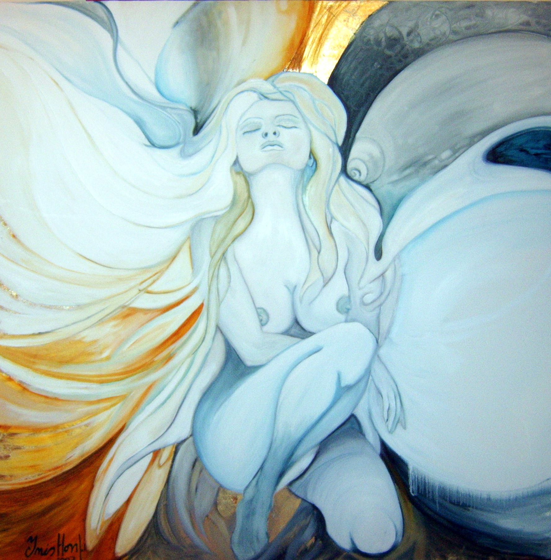 The Angel - 120x120cm - Oil on Canvas  Inspired by the existence of our Guardian Angel