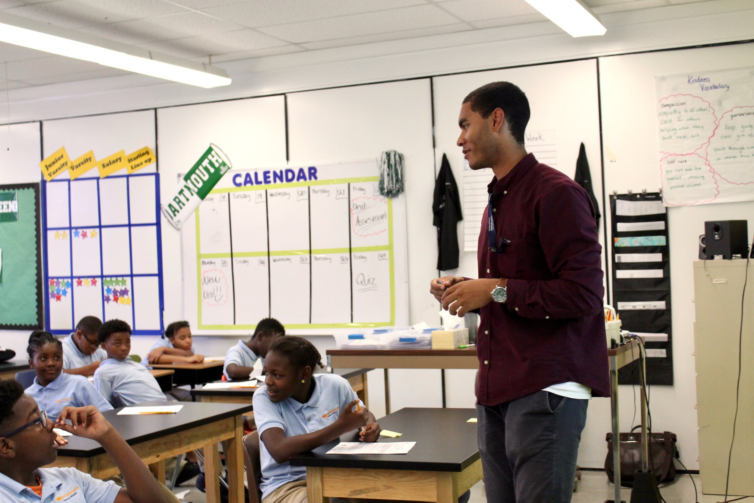Brendan Caldwell began his Teach for America commitment with KIPP Memphis Academy Middle as a 6th grade science teacher in 2017, and has chosen to stay beyond his two-year program.