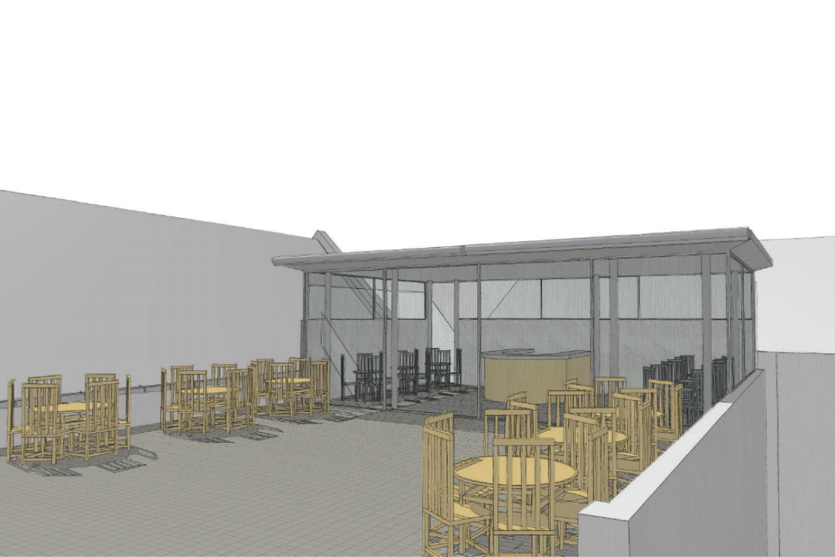 San Lorenzo rooftop bar - Planning permission and listed building consent for roof top bar and terrace in a Palmyra Square Conservation Area, Warrington.