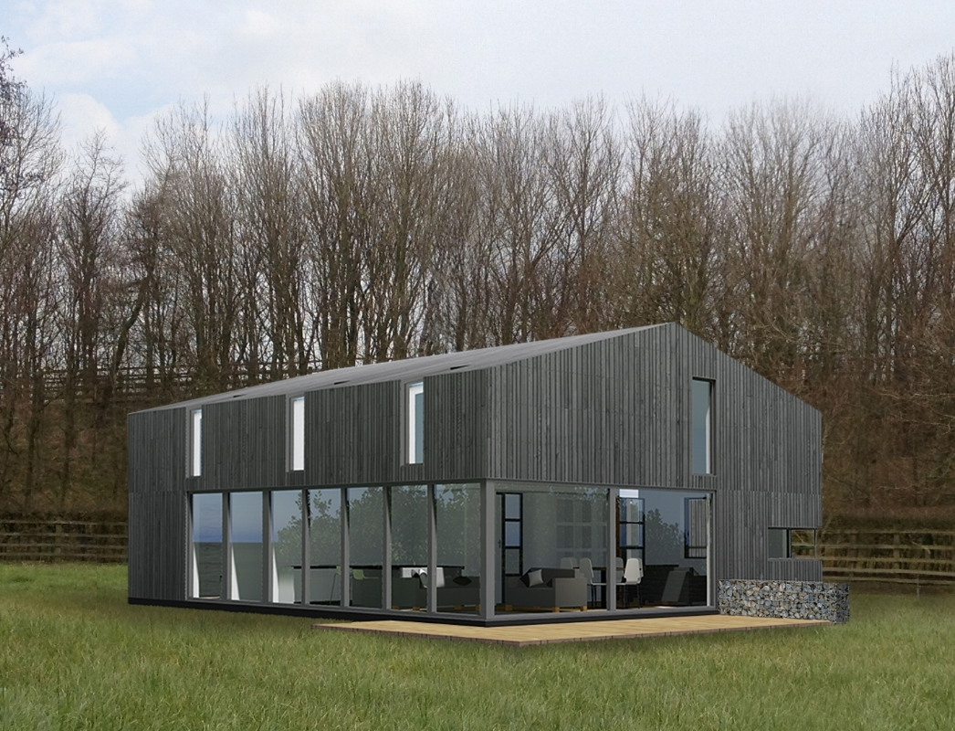 3D visual of barn conversion (c) MBED Architects