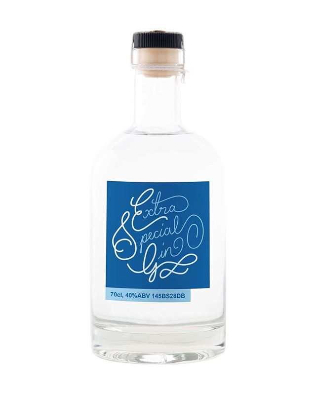 Hand lettering for a Bespoke gin for Franklin and Templeton.