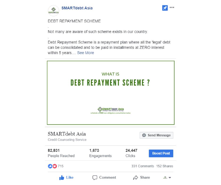 Debt Management Leverage on Social Media Campaigns