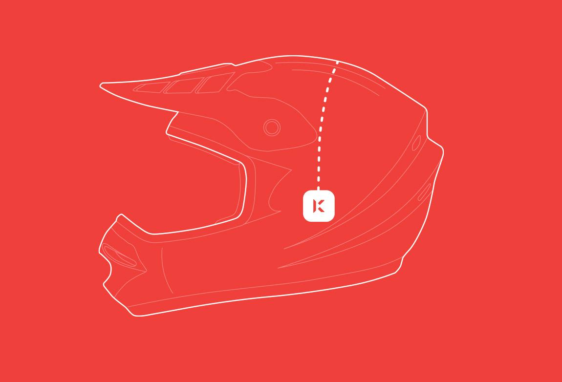Konnect fits inside your helmet ear pockets