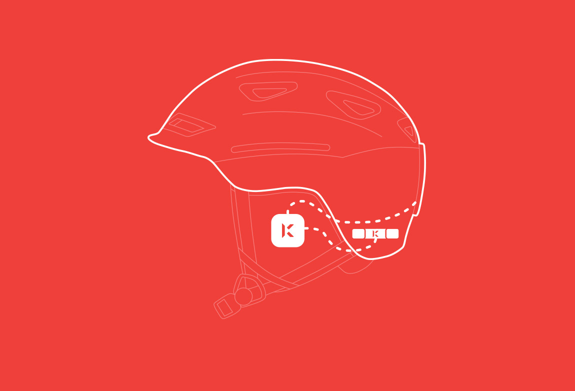 Konnect fits inside the ear pockets of most ski helmets