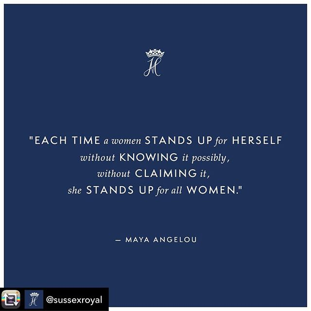 Repost from @sussexroyal using - Maya Angelouwas an American poet, singer,civil rights activist and washailed as a new kind of memoirist - inspiring people around the world as one of the first African-American women who openly discussed their personal life in order to help others.  These words, used in The Duchess' speech on the opening day of the Southern Africa Tour in Nyanga, South Africa, surrounded by the inspiring Mbokobo girls, should always be a reminderthat no matter how big or small, your voice has a purpose.