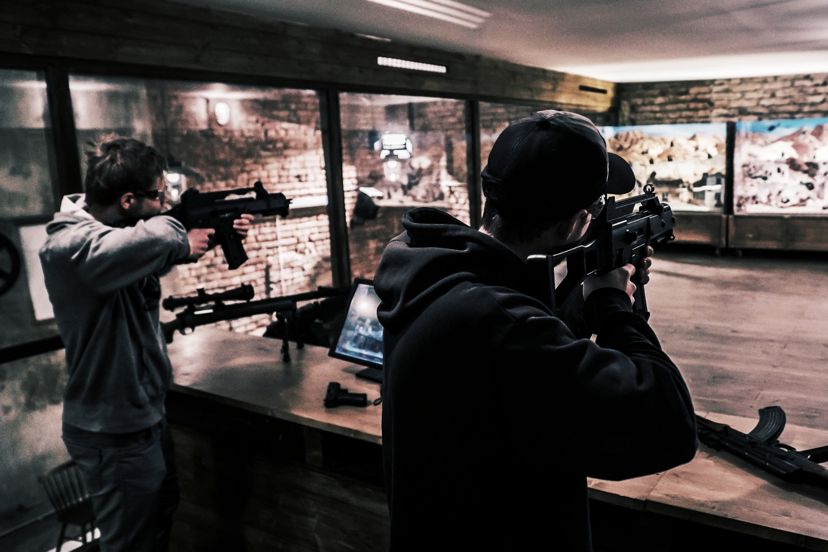 TEST YOURSELF - Our certified instructors will assist you on how to shoot safely and effectively in a simulated environment.Our unique and immersive systems will test your accuracy, speed, and judgement while running solo or among friends in realistic shooting scenarios.