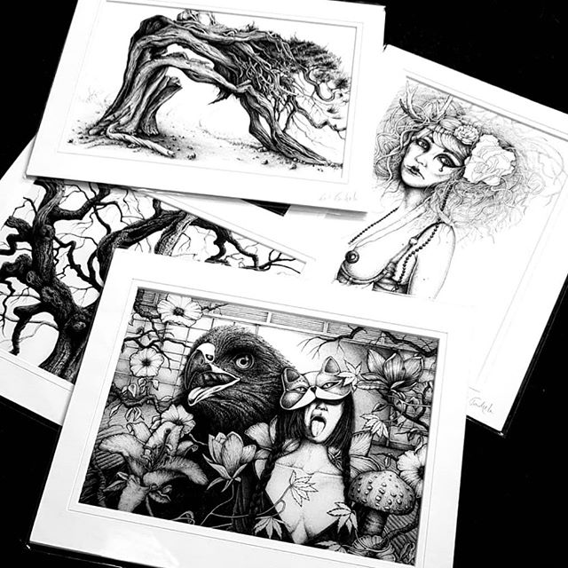 10k giveaway of 4 signed A4 matted/mounted giclee prints on heavyweight Innova fine art paper. Been a little busy so sorry for the delay in doing this comp. Wanted to say a huge thank you for the support and it's such a good motivator to keep drawing when things are tough. ... All you have to do is: : be following me : like this post : tag 2 friends. ... One lucky winner will take home all 4 and the random winner will be announced on May 15th! ... Thank you again 🖤. ... .. . #art #competition #giveaway #10k #thanks #penandink #inkdrawing #darkillustratiom #darkart #macabre #artprint #londonart #inked #drawingoftheday #instaartist #sketchbook #inkart #lineart #karltrewhela #fineliner #drawingoftheday #treedrawing #illustration #fineart #horroart #dotwork