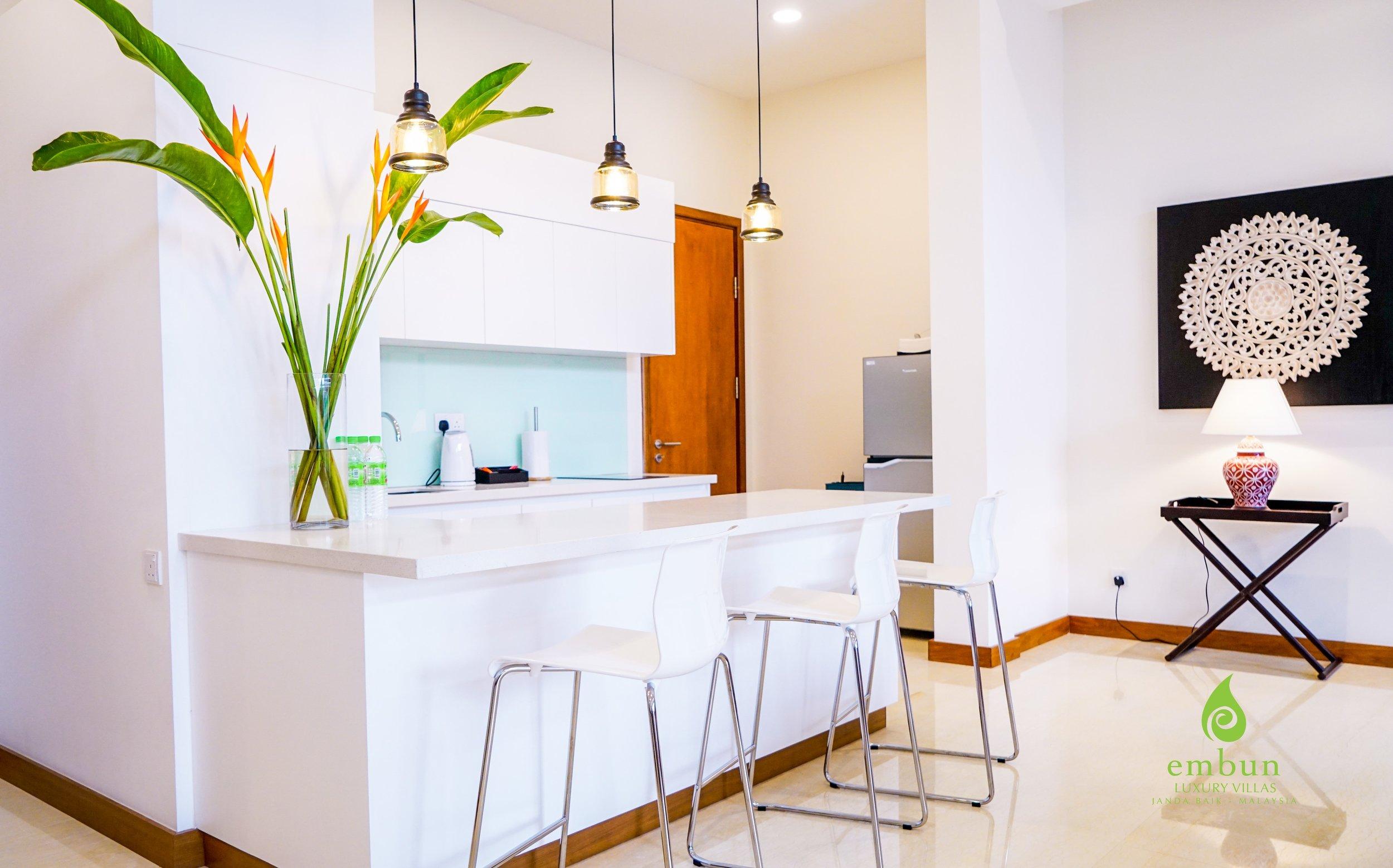 - kitchen in villa kantan, embun luxury villas