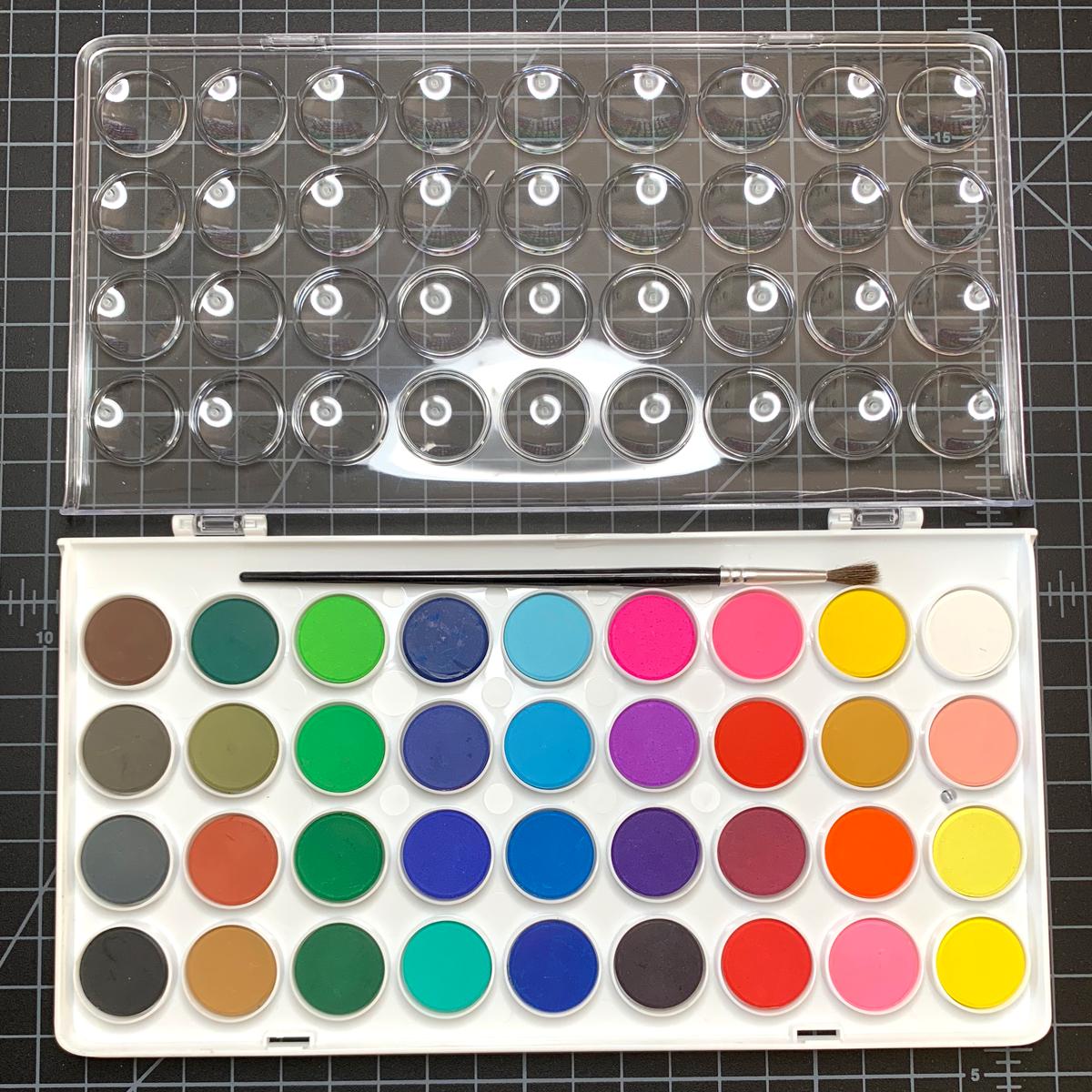 bargain 36-color watercolor pan set
