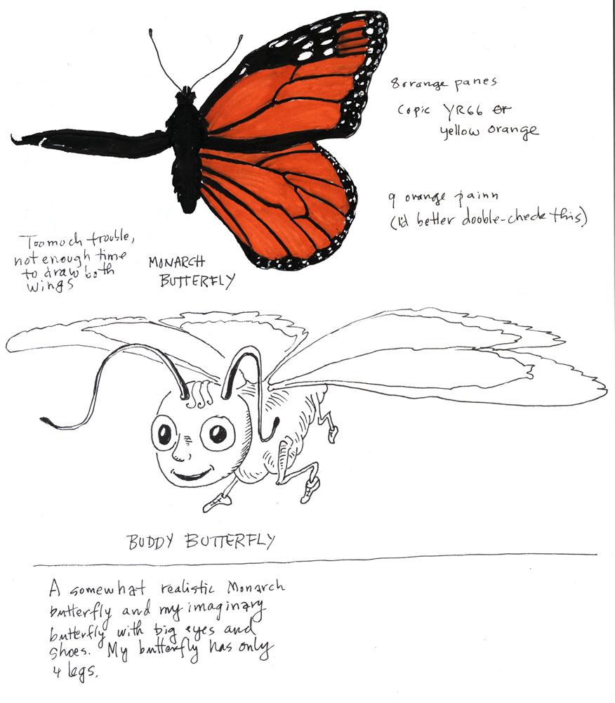 Monarch butterfly, butterfly character, children's book