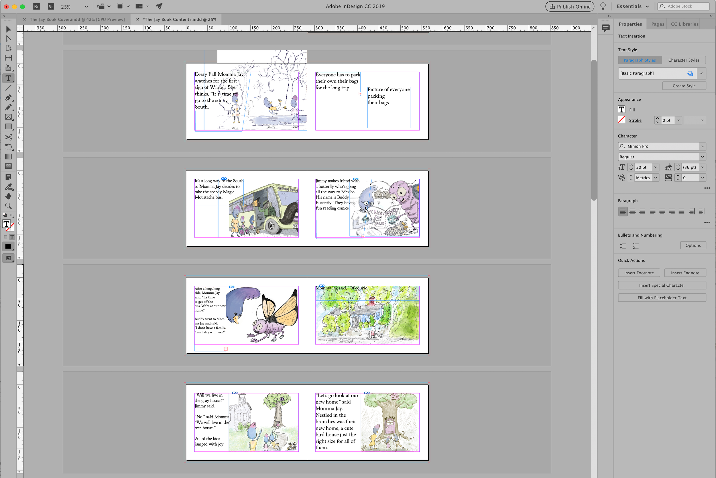 inDesign layout,  children's ebook, layout, Kindle Create