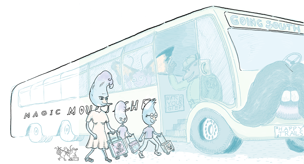 Re-inking images,children's book, mice, stowaways