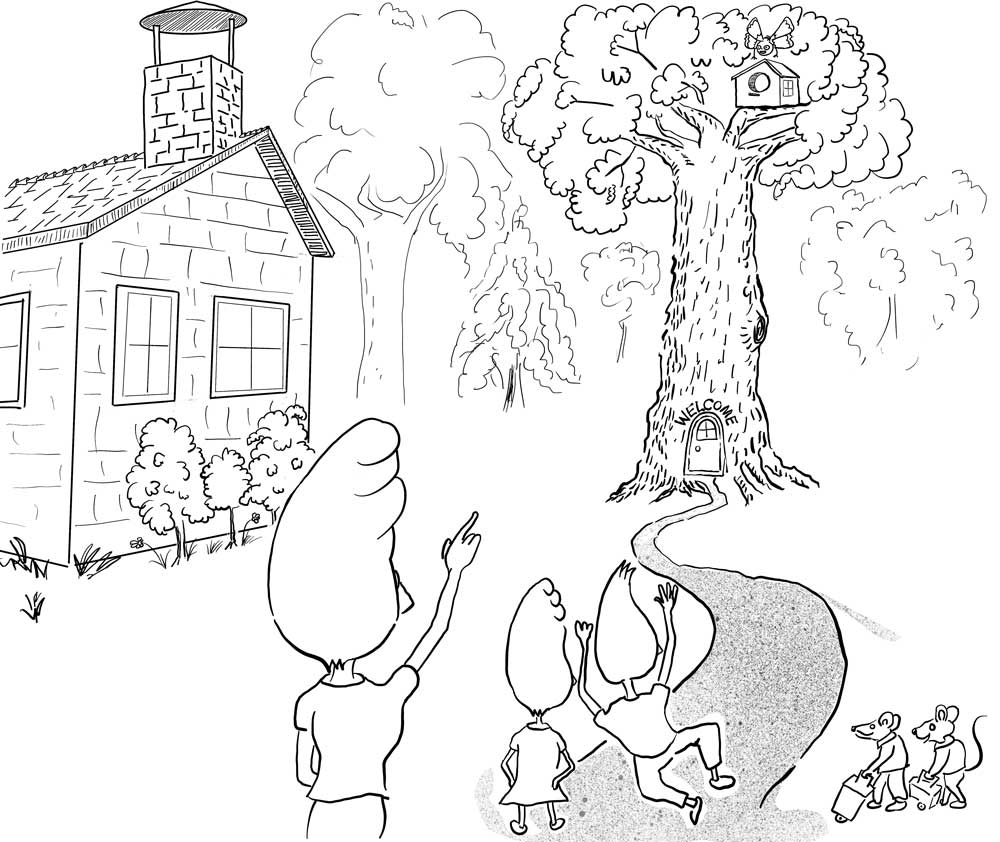 welcome_to_the_treehouse_affinity.jpg, Re-inking all images, Children's book, resetting schedule