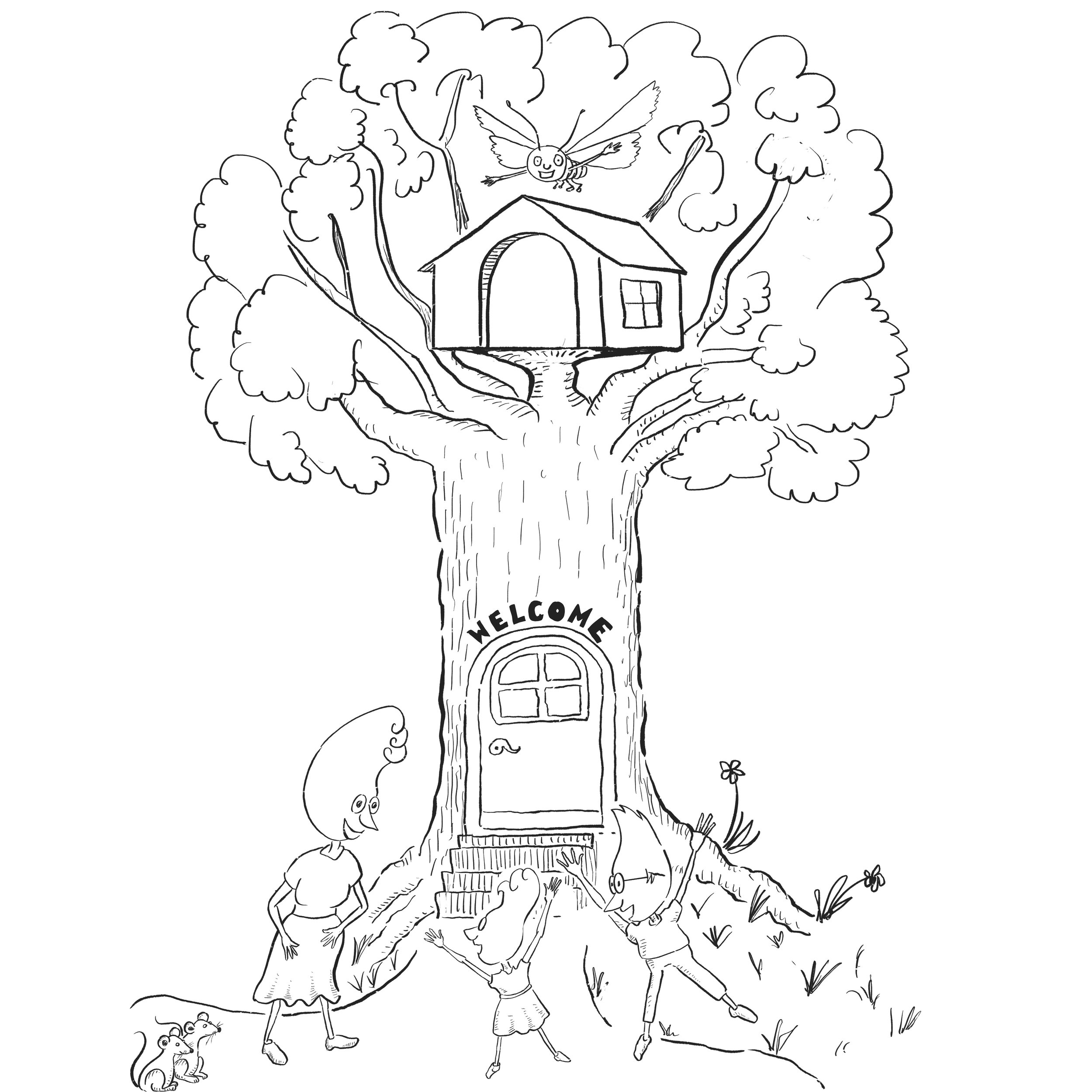 re-inking, Welcome to new home, children's book, Procreate