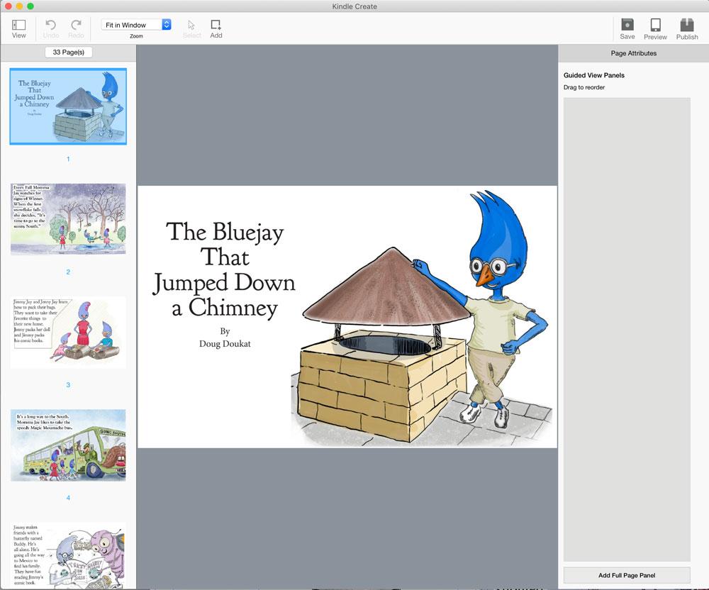 book_in_kindle_create_workspace.jpg kindle create workspace,children's picture book, work in progress