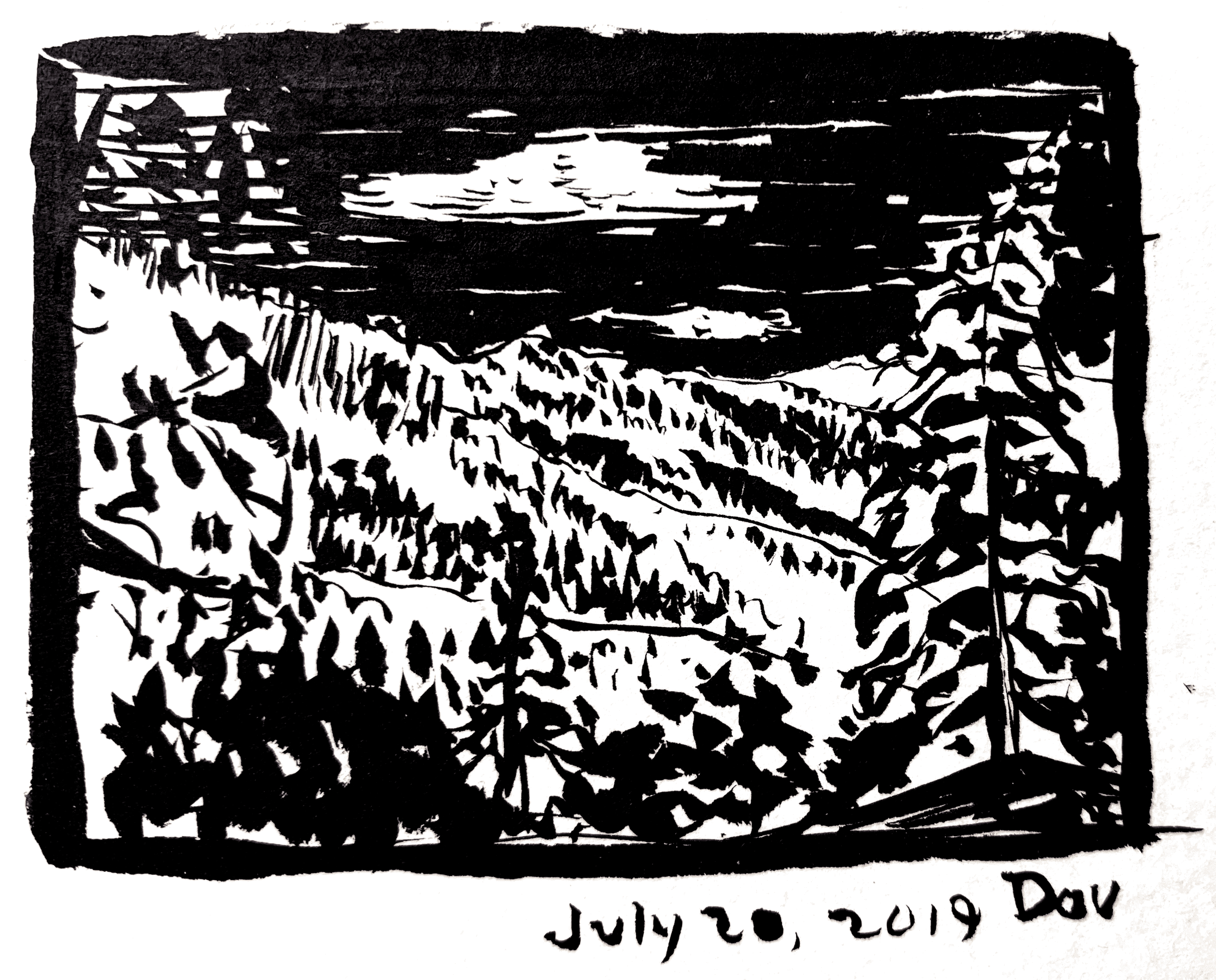 "Sketching time: 15 minutes. The original image is 2x3 inches. I'm signing this one ""Dou""."