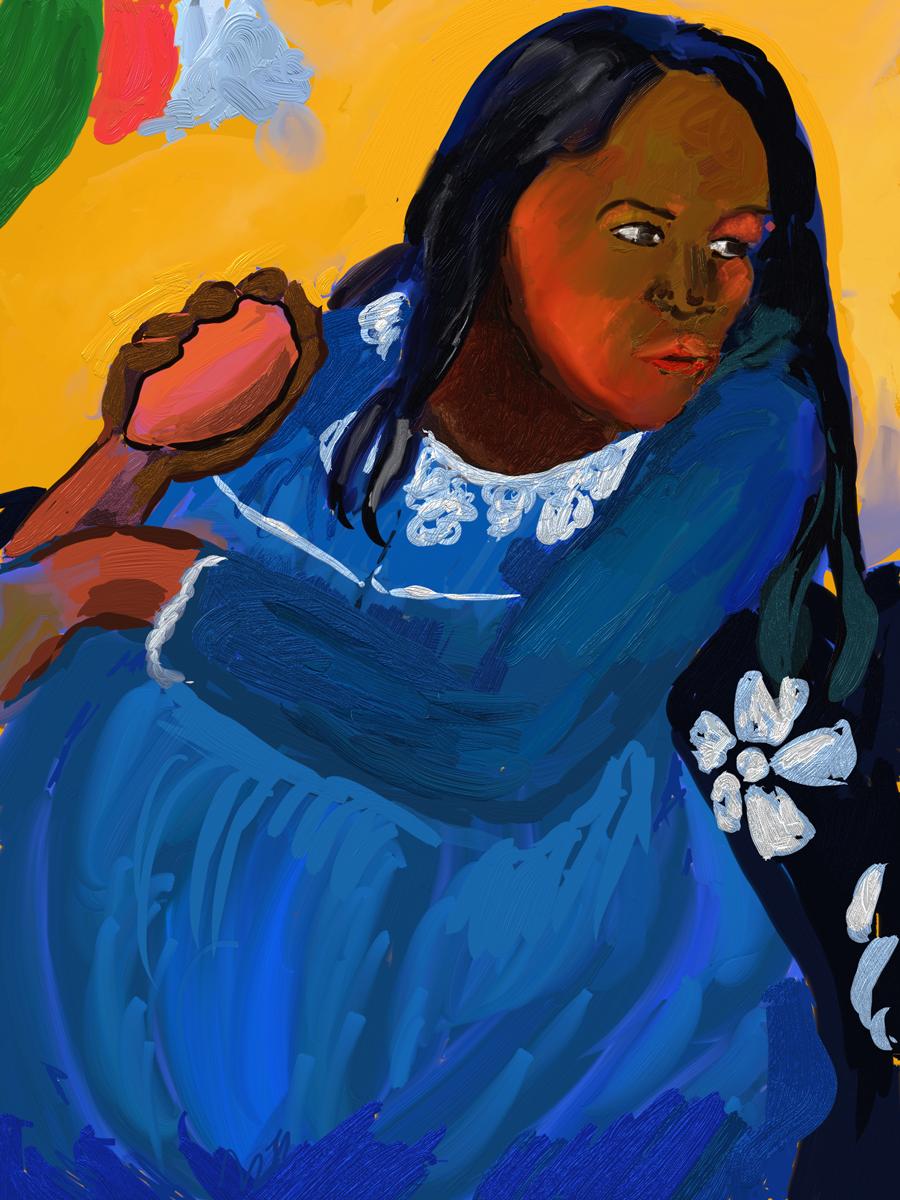 al_fresco_jul_20_gauguin.png Paul Gauguin, Woman with Mango, Artrage, iPad Pro
