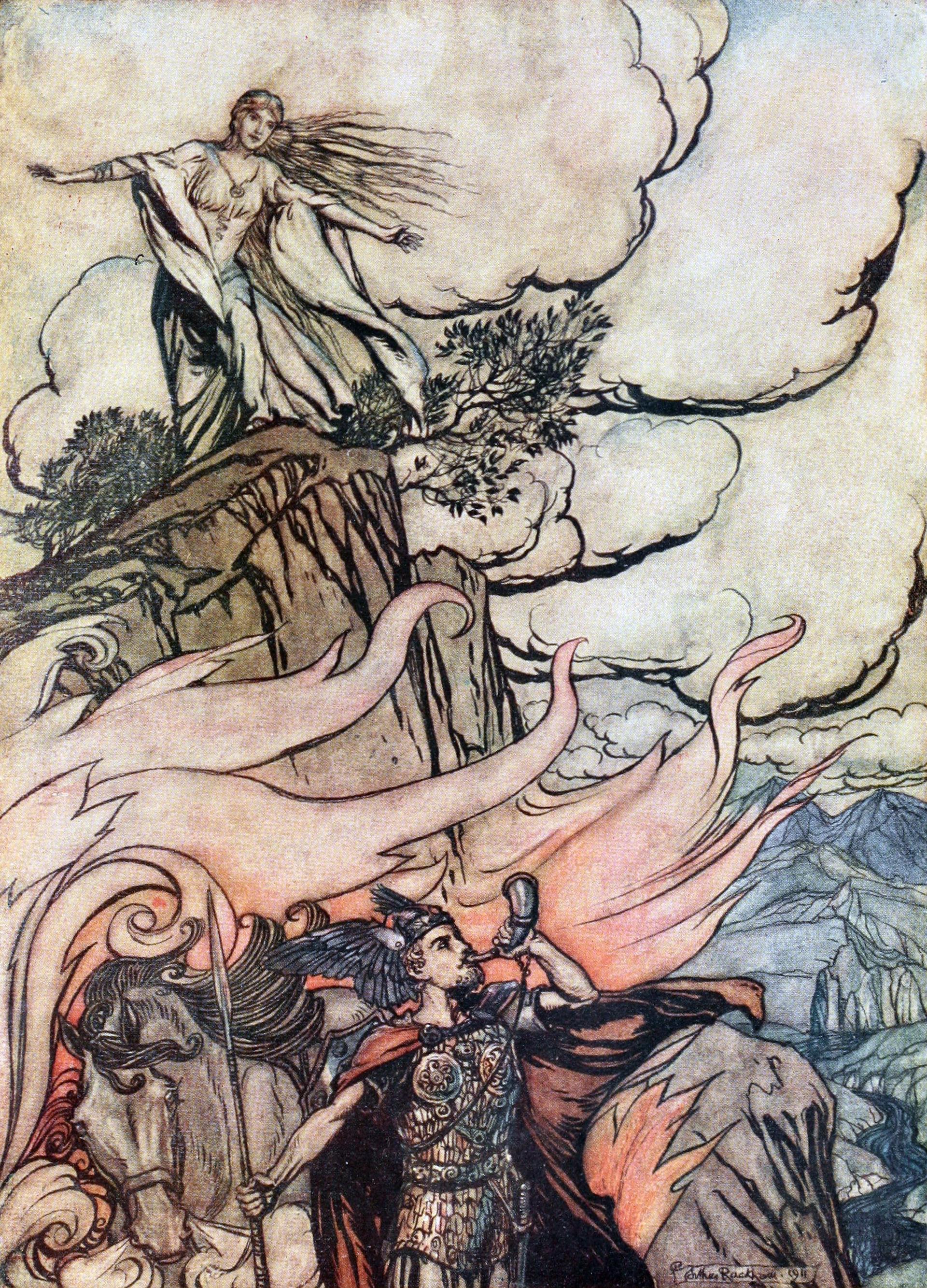 Wikipedia, Arthur Rackham, Siegfried leaving Brünnhilde