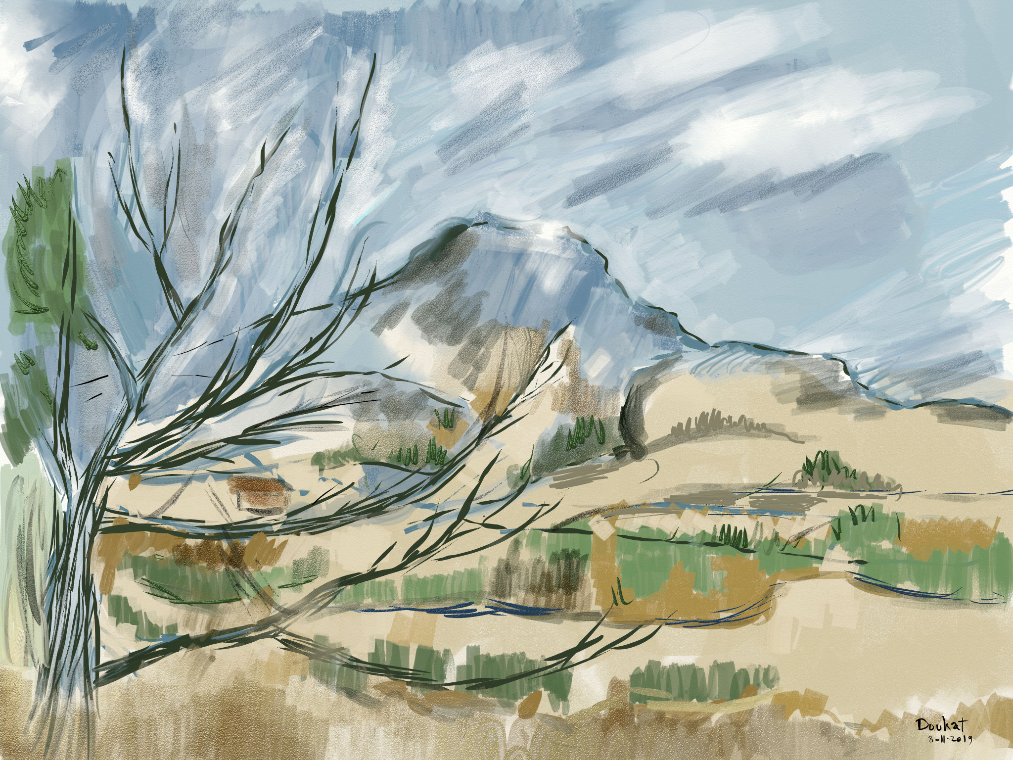 Cezanne-Mount-blog.jpg, Paul Cézanne, Mount Sainte-Victoire, Artrage, iPad Pro