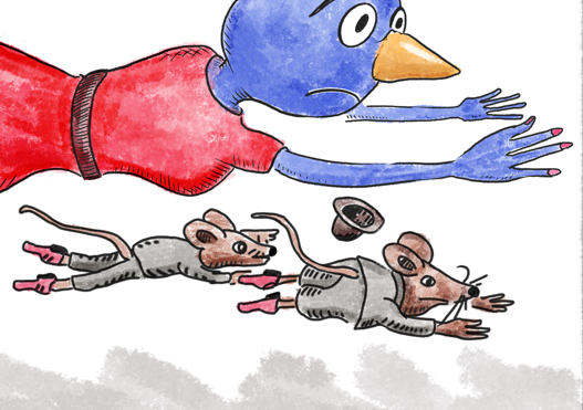 hitchhiker_mice.png the mice, hitchhikers,traveling salsemen,children's book, Procreate