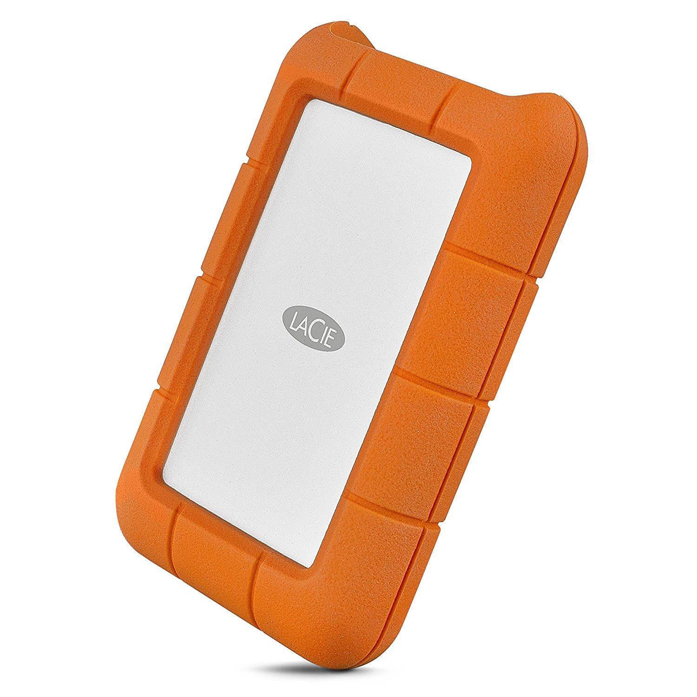 LaCie Rugged 5TB USB-C and USB 3.0 Portable Hard Drive - Awesome Storage Drive
