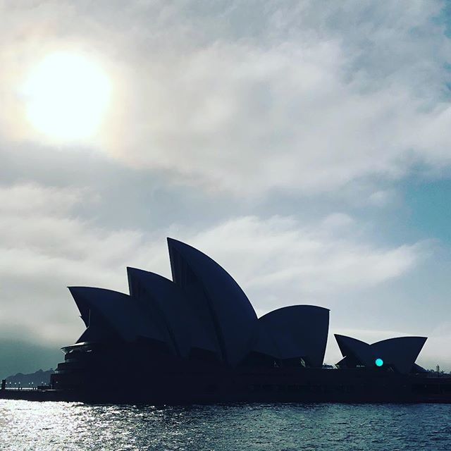 #backlit Early morning shot of the iconic Sydney Opera House (1957-73, Jørn Utzon & Ove Arup); because boat is the best way to move around town, especially when hunting sights for the next Brut&Brut article on my web (#comingsoon) #sydneyoperahouse #sydney #sydneyferries #australianarchitecture #sails #structures #brutgroup #icons #archigeek #brutbrut