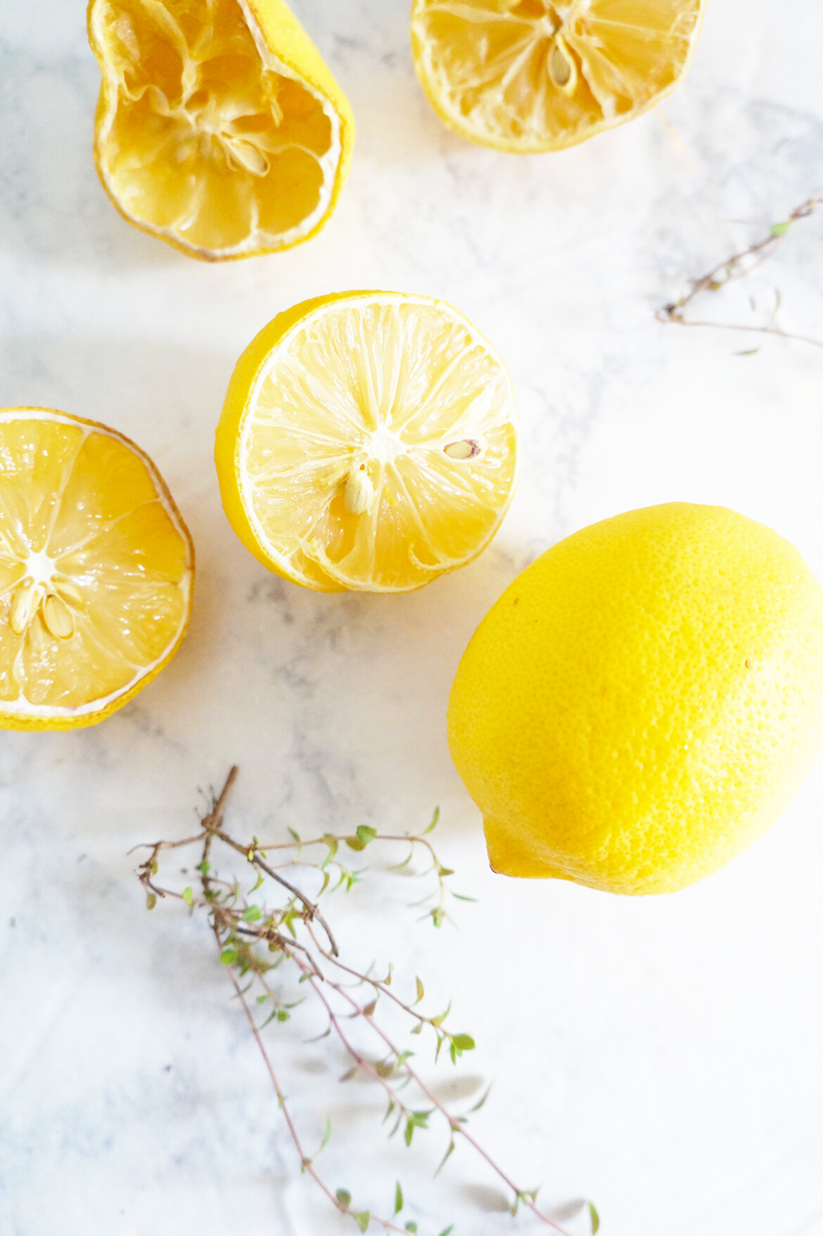 In Search of Our Garden Memphis Wellness Blogger shares a lemon and thyme household cleaner